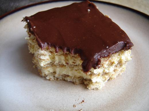 Schokolade Eclair Torte Graham Cracker